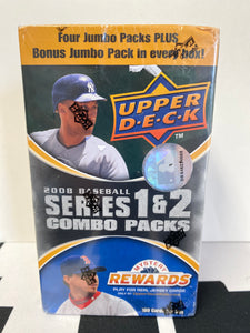 2008 Upper Deck Series 1 & 2 Baseball Combo Pack Box