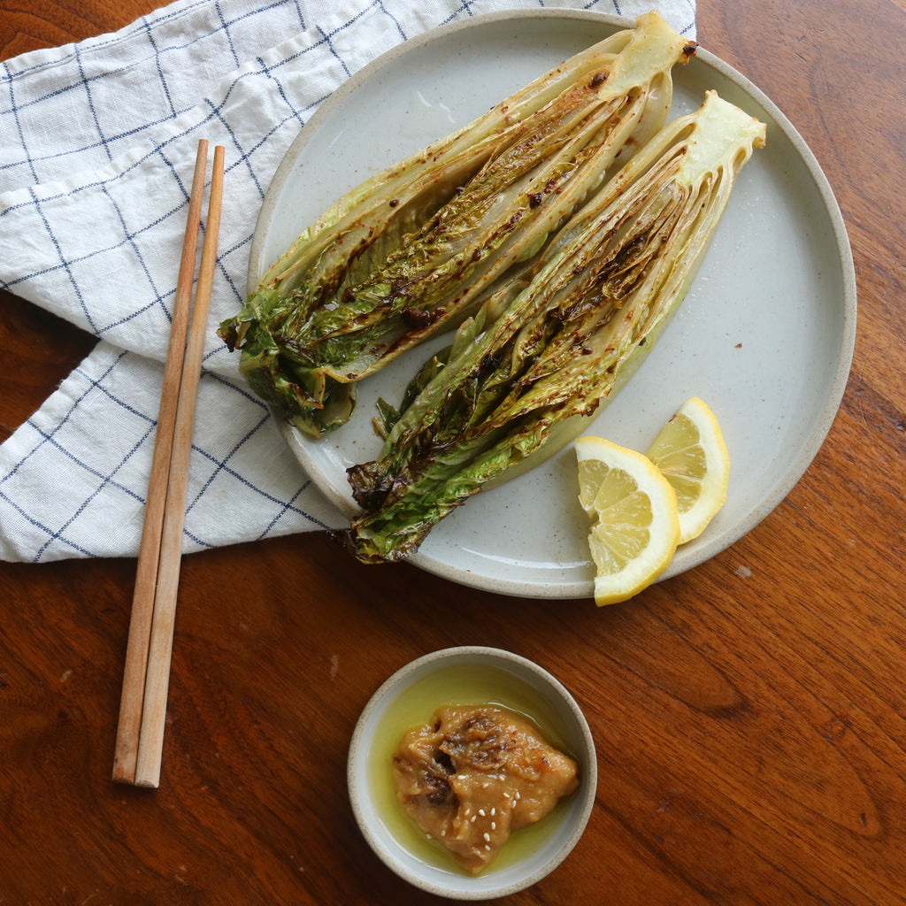 Grilled Romaine with Miso Doenjang
