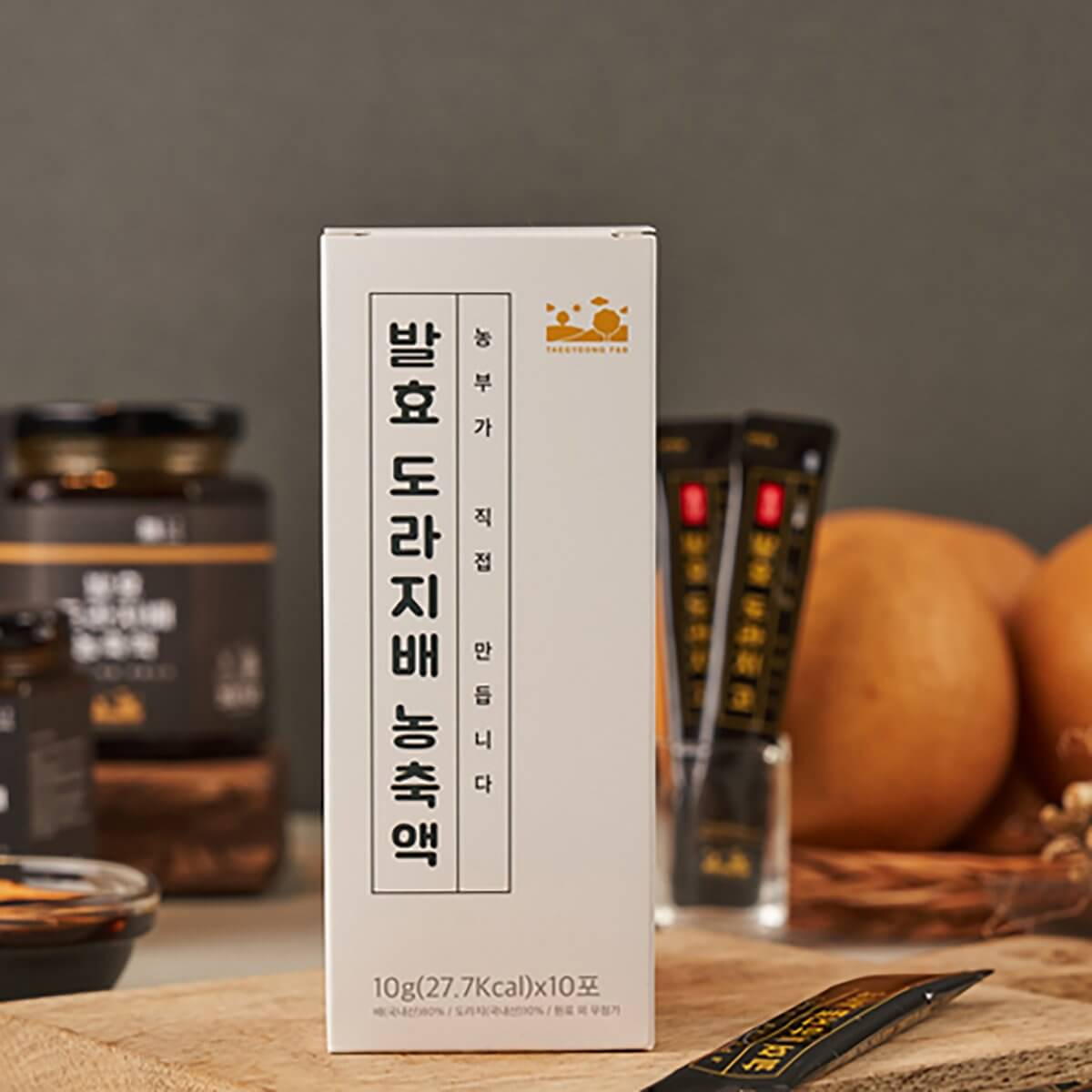 TAEGYEONG FERMENTED BELLFLOWER & PEAR INDIVIDUAL STICKS 발효도라지배농축액 (스틱제품)