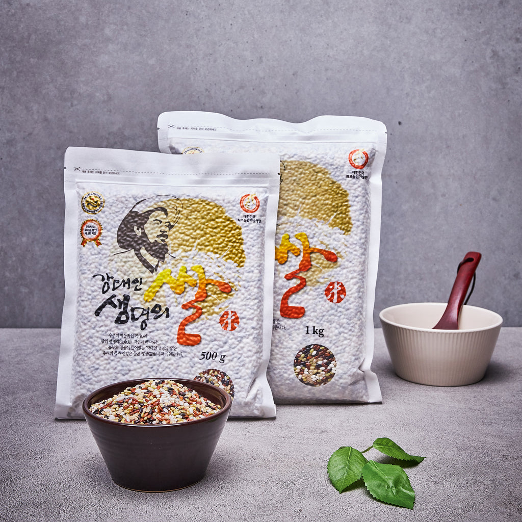 Kang Daein Organic Five-Colored Rice [강대인 생명의 쌀] 유기농 오색미 (Milled 4/8/2020; Shipped by air from Korea)