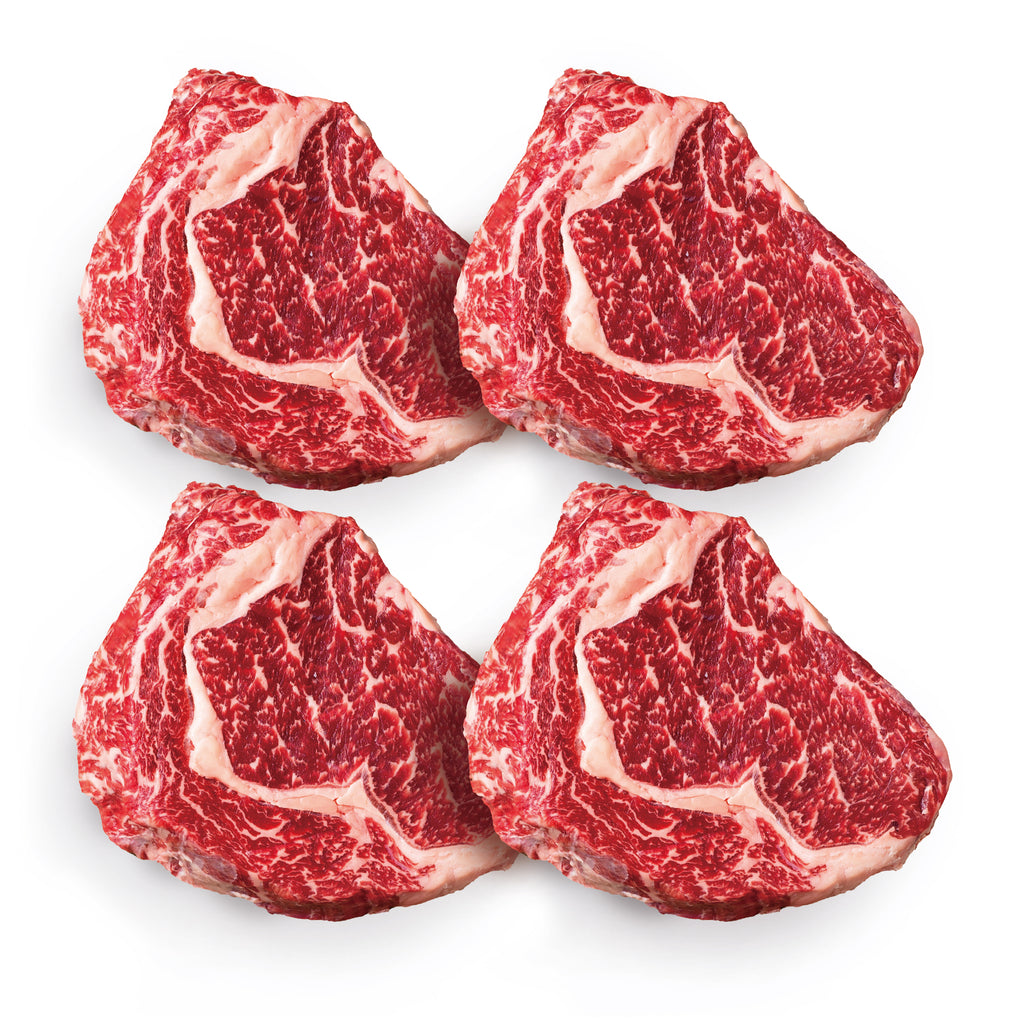 [Steak Family Set 4] Ribeye 12 oz. x 4 (Shipping Included)