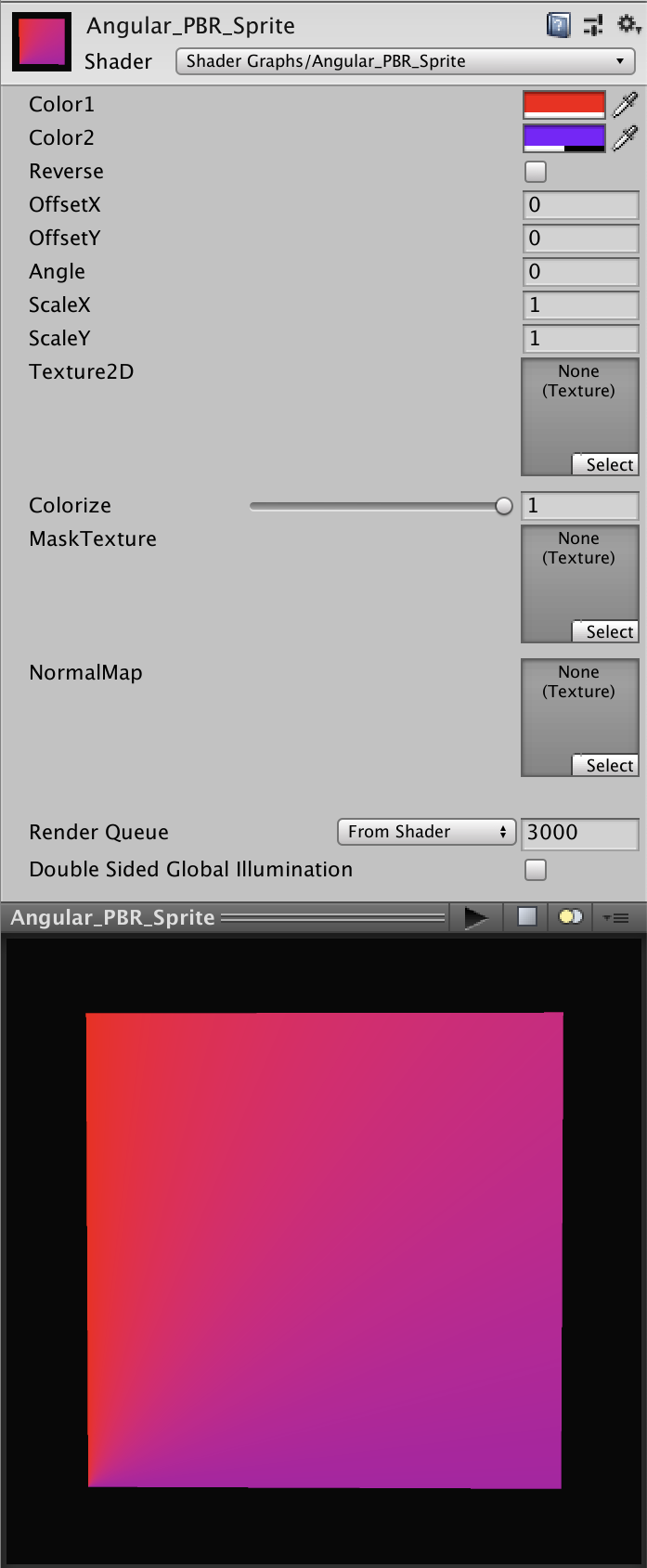 gradient shader pack material