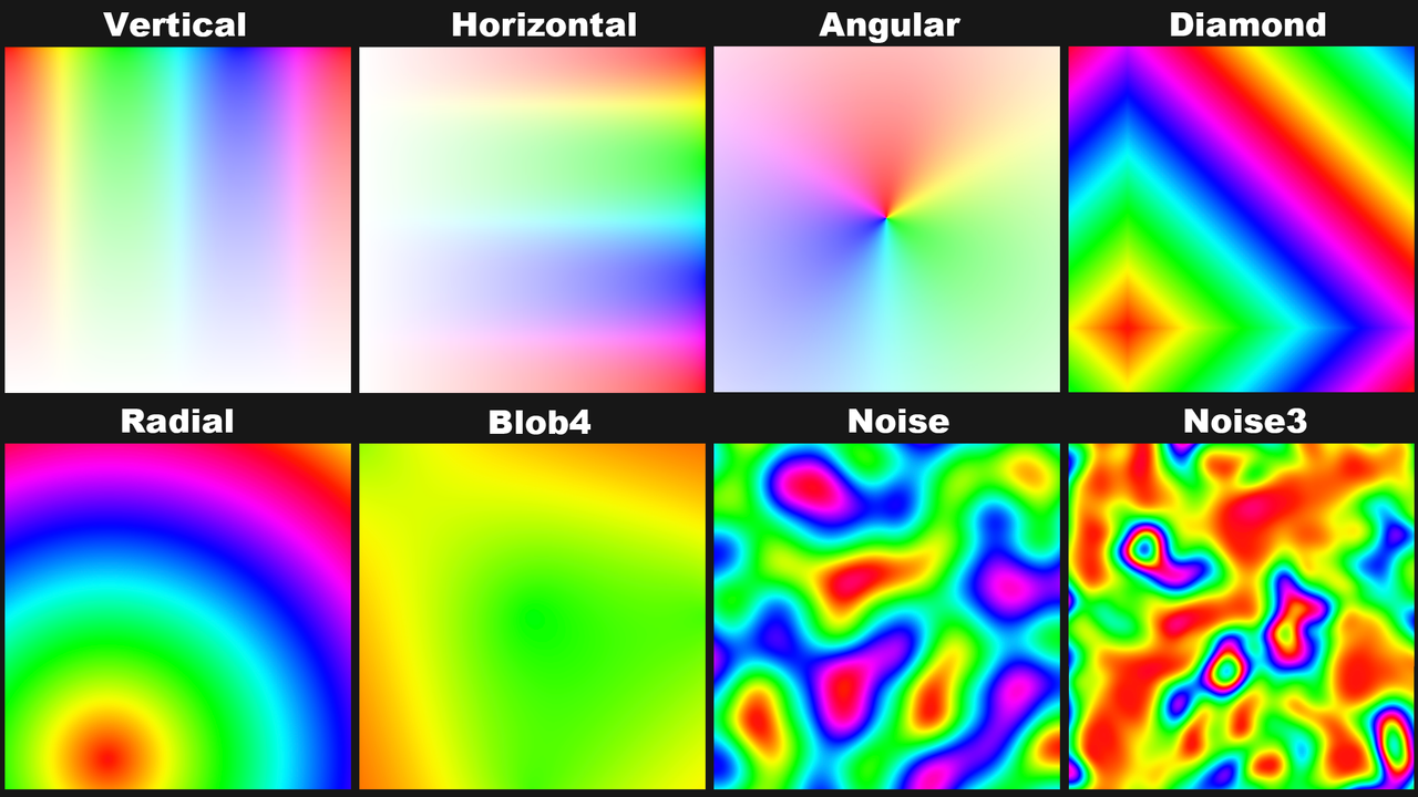 palettized gradient shaders