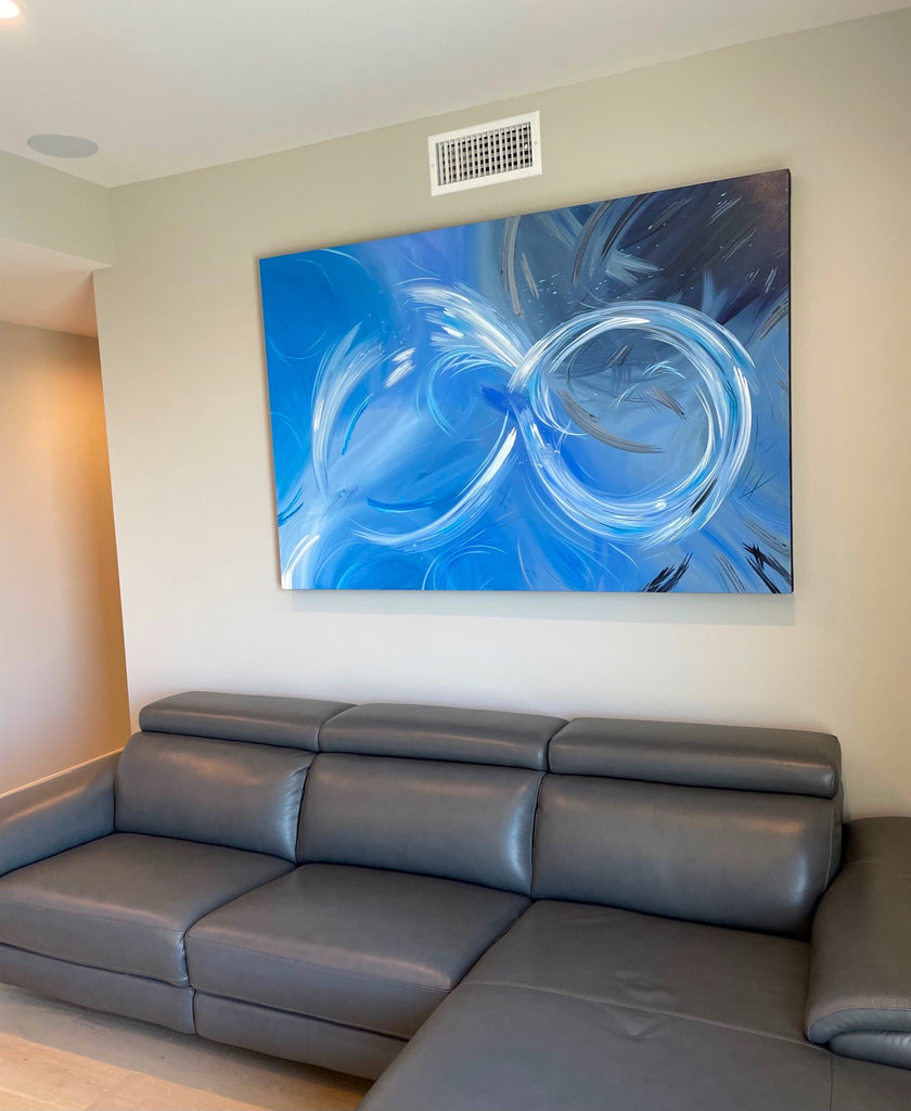 Ocean-themed painting commission for a home in Pacific Beach, CA