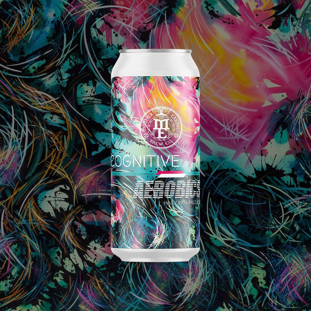 Carini Arts on the can of Cognitive Aerobics from Mother Earth Brew Co. in Vista, CA