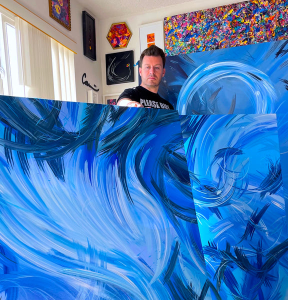 Swimming in the waves of paintings with Carini Arts