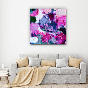 Beautiful Accidents Purple Flower Meadow Mix Canvas - Carini Arts