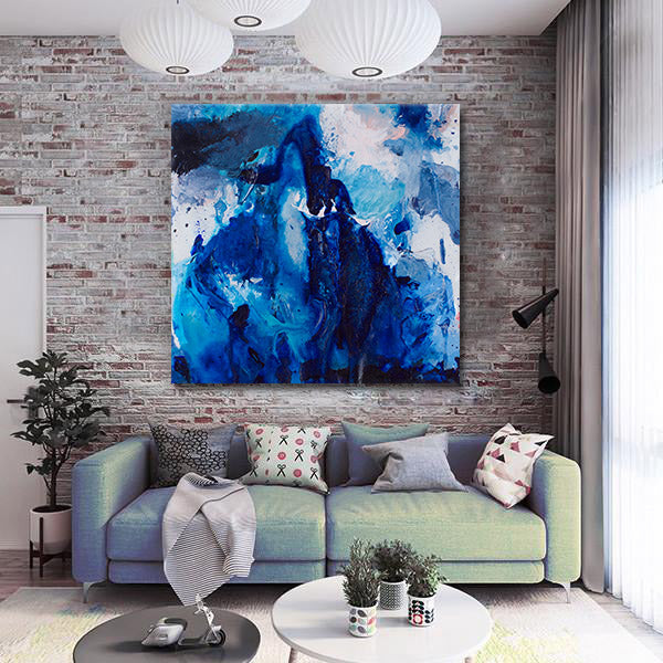 Beautiful Accidents Blue Water Mountain Mix Canvas - Carini Arts
