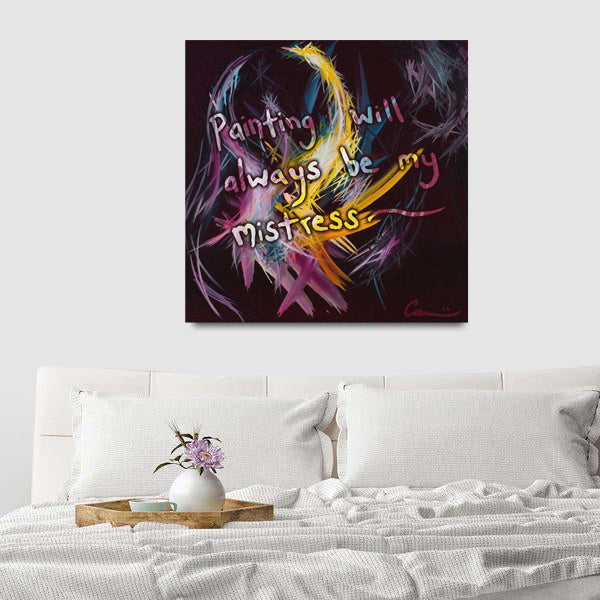 Fractured Realities And Dreams Brought To Light Quote Canvas - Acrylic Alchemy