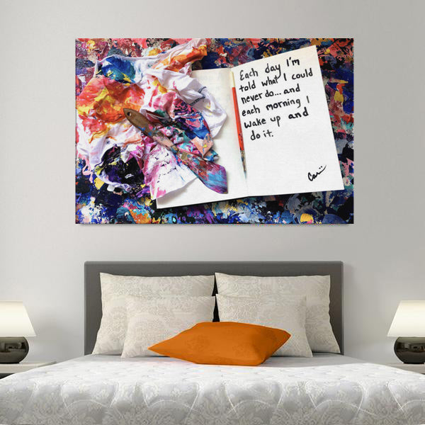 Each Day Quote Canvas - Acrylic Alchemy