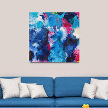 Load image into Gallery viewer, Beautiful Accidents Blue Monday Mix Canvas - Acrylic Alchemy