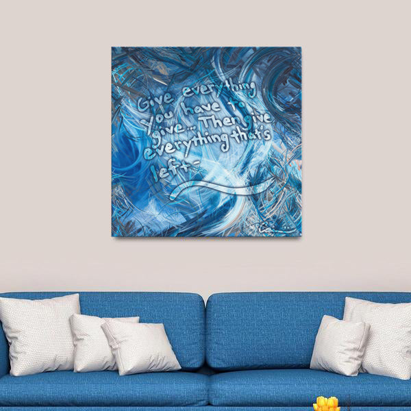 Consumption Of The White Whale (Ahadevale) Quote Canvas - Carini Arts