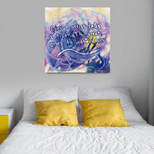 Load image into Gallery viewer, Flesh Of My Flesh (Deribon) Quote Canvas - Acrylic Alchemy