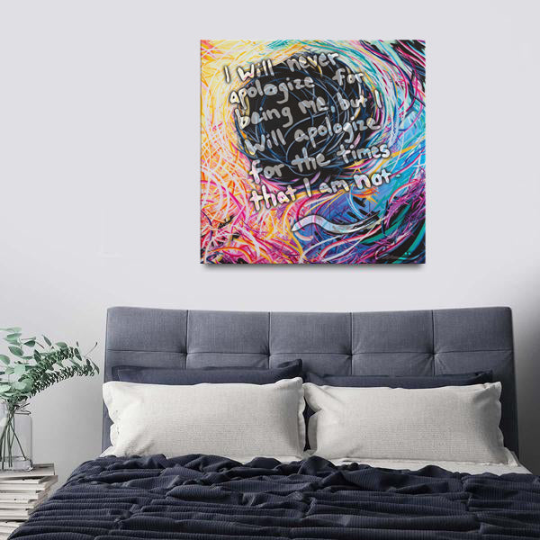 Astranomelly Quote Canvas - Acrylic Alchemy