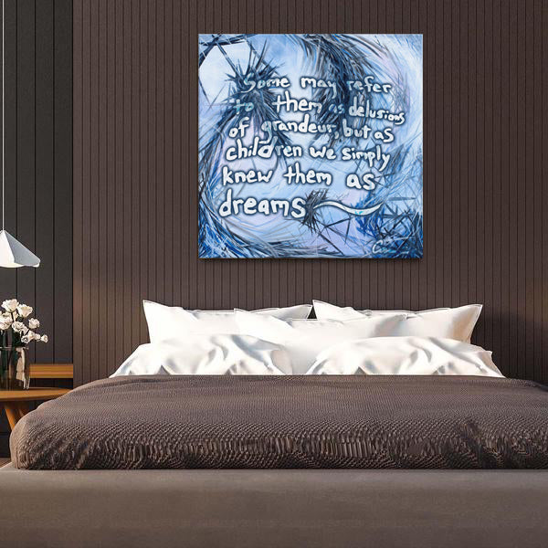 You Called Out For Me And So I Came To You (The Dreamer And The Night Terrors) Quote Canvas - Acrylic Alchemy