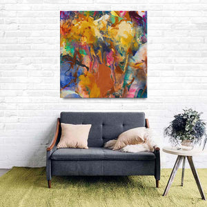 Beautiful Accidents Fall Mix Canvas - Acrylic Alchemy