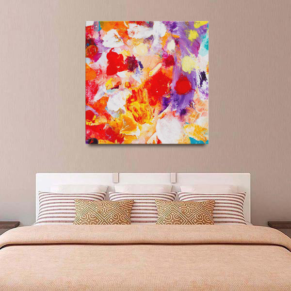 Beautiful Accidents Orange Cream Mix Canvas - Acrylic Alchemy