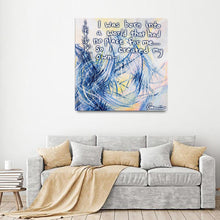 Load image into Gallery viewer, Revelations And Regenesis Quote Canvas - Acrylic Alchemy