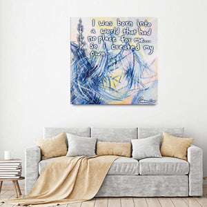 Revelations And Regenesis Quote Canvas - Carini Arts