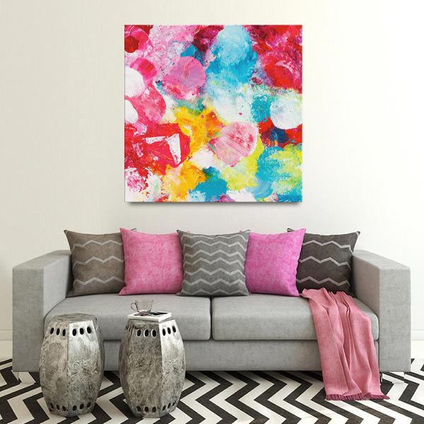 Beautiful Accidents Red Delight Mix Canvas - Acrylic Alchemy