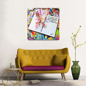 I Was Born Into A World That Had No Place For Me Quote Canvas - Carini Arts