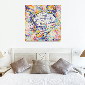 Intimacy Of The Infinites (Intimafancy) Quote Canvas - Carini Arts