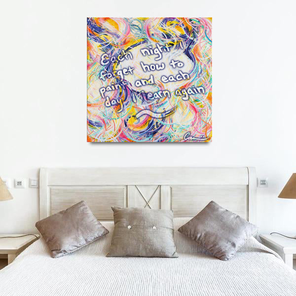 Intimacy Of The Infinites (Intimafancy) Quote Canvas - Acrylic Alchemy