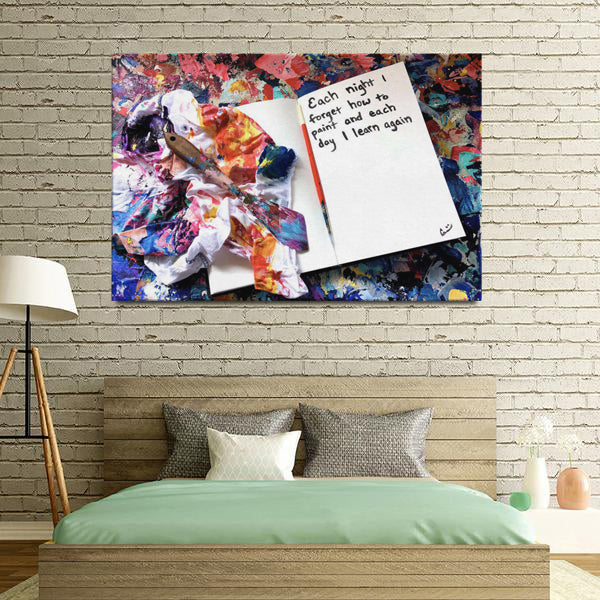 Each Night Quote Canvas - Acrylic Alchemy