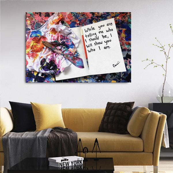 While You Are Telling Me Who I Should Be Quote Canvas - Carini Arts
