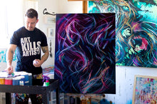 Load image into Gallery viewer, Forever Free Falling Canvas - Acrylic Alchemy