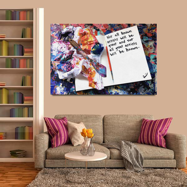 Not All Known Artists Quote Canvas - Acrylic Alchemy