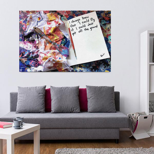 I Always Knew That I Could Fly Quote Canvas - Acrylic Alchemy
