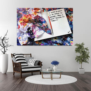 I Used To Paint In An Effort To Escape Quote Canvas - Carini Arts
