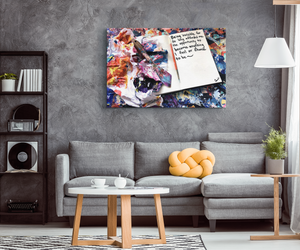 Being Invisible Quote Canvas - Carini Arts