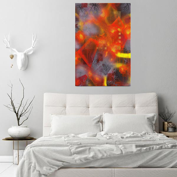 The Disintegration Of Memory Canvas - Acrylic Alchemy