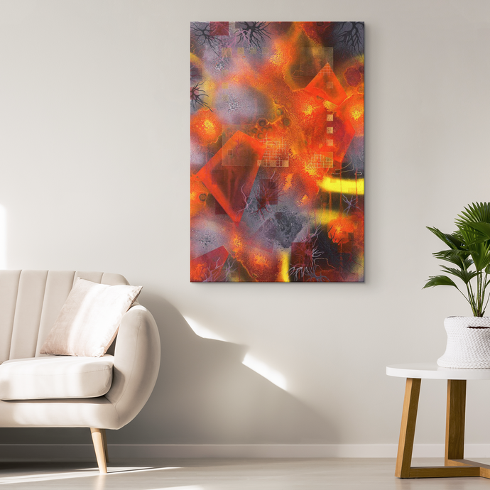 red canvas art and decor