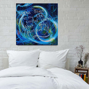 Just Floating On The Tears (Flears) Quote Canvas - Acrylic Alchemy