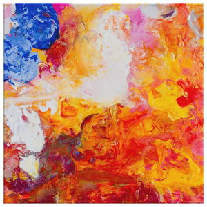 Beautiful Accidents Fire And Water Mix Canvas - Acrylic Alchemy