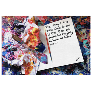 The Thing I love Most About Dreams Quote Canvas - Acrylic Alchemy