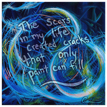 Load image into Gallery viewer, Just Floating On The Tears (Flears) Quote Canvas - Acrylic Alchemy
