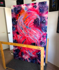 As The Caged Bird Sings Canvas - Acrylic Alchemy