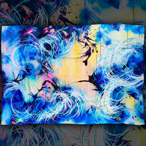 Falling Towards The Sky Blanket - Carini Arts