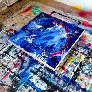 As The Universe Falls Together Canvas - Carini Arts