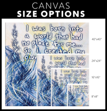 Load image into Gallery viewer, Revelations And Regenesis Quote Canvas - Carini Arts