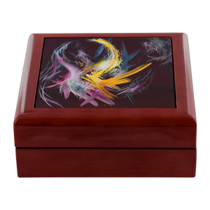 Fractured Realities And Dreams Brought To Light Jewelry Box - Carini Arts