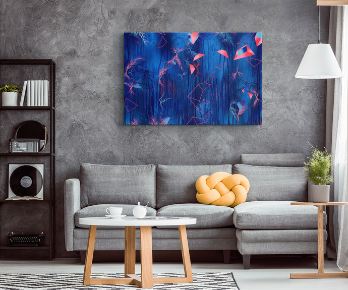 blue canvas art and decor