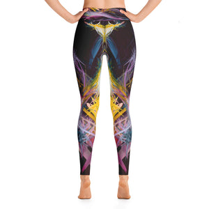Fractured Realities And Dreams Brought To Light Leggings - Acrylic Alchemy