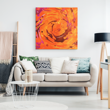 Load image into Gallery viewer, beautiful orange canvas decor