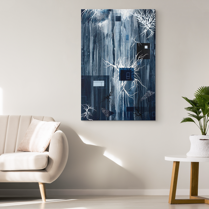 black and white canvas art and decor