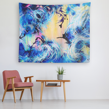 Load image into Gallery viewer, Falling Towards The Sky Tapestry - Carini Arts